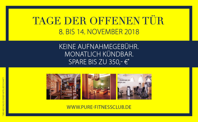 Tage Der Offenen Tür 8 Bis 14 Nov 2018 Pure Fitnessclub